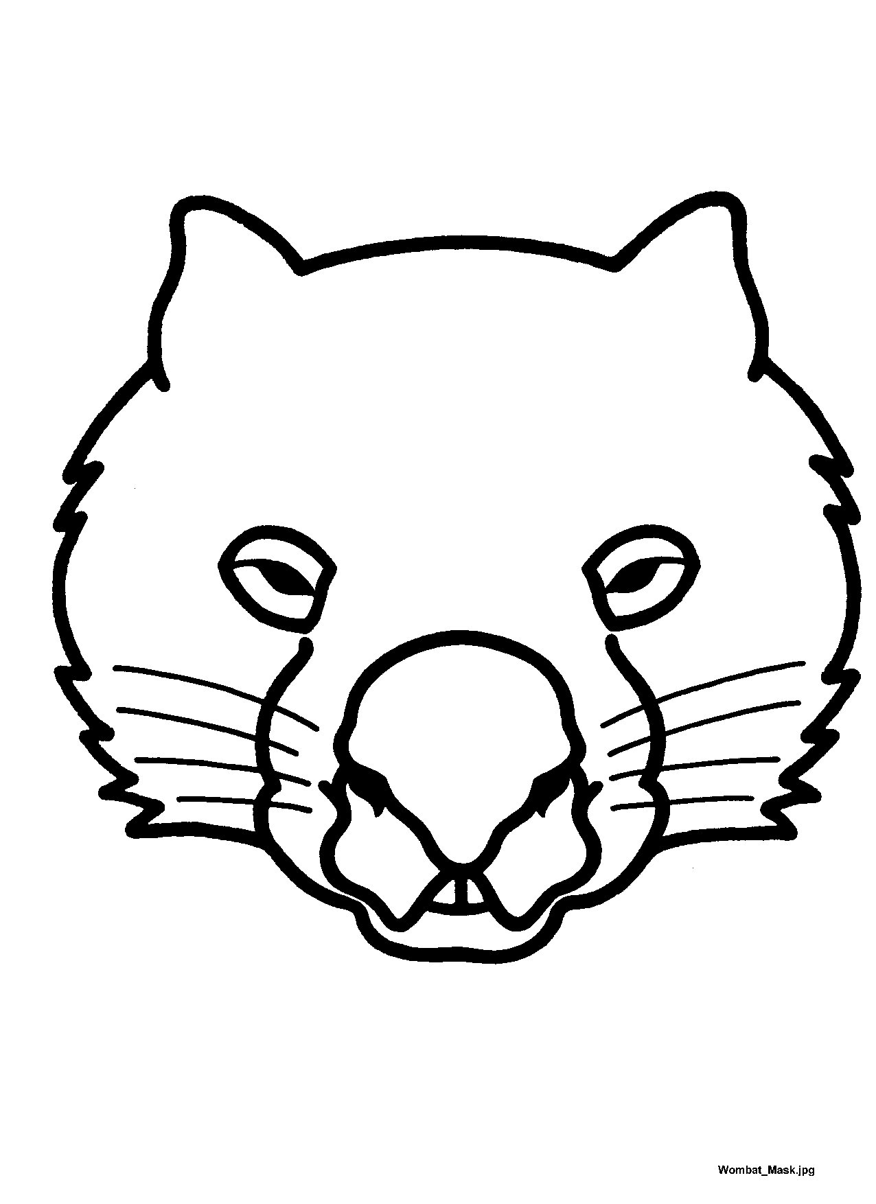Printable Mask Template Printable Wombat Mask  Wombat Unit  Australia Theme  Pinterest .